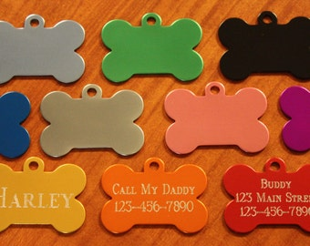 PET SUPPLIES Quality Custom Engraved Dog Tag Pet ID With Free Shipping  (**Buy 3 Get 1 free!!**)