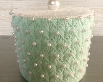 Toilet Paper Cover Mega Roll Design Bathroom Decor Any Color With Pearls Needlepoint