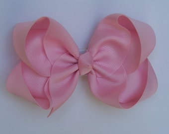 Large Baby Pink Boutique Bow Girls Big Hair Bow Girls Bow Jumbo Bow Baby Pink Hair Bow