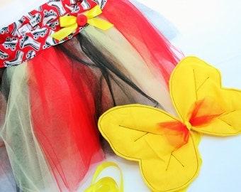 Child Tutu Skirt - Child Tutu & Fairy Wings - Tutu Set - Festival Outfit - 9/10 Years Old Fancy Dress