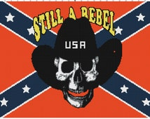 Still A Rebel Confederate/Rebel Fla g Blanket Pattern ...