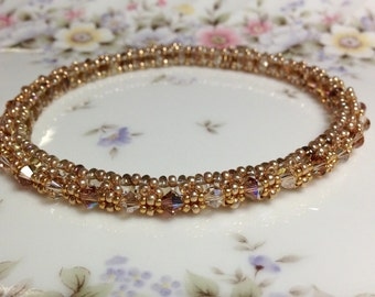 Gold of Festival of Lights Soft Bangle Bracelet
