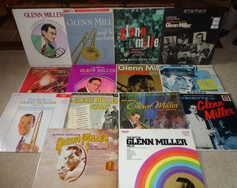 14 LP record collection of Glenn Miller ,WW2 music,swing,big band music,