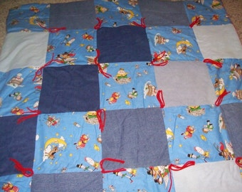 Adorable Mother Goose and Denim Baby Quilt