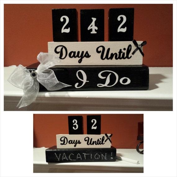 Year Wedding Countdown Checklist: Wedding Countdown Blocks