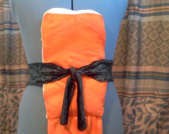 Sushi Costume Ebi Shrimp or Sushi Pillow Sashimi Orange or Pink 18 x 8 x 3 inches. Adult Teen Child Baby Kids