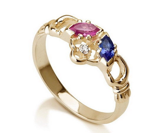items similar to promise ring couples birthstone ring gold