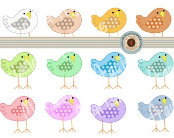 sweet birds CLIP ART. DIGITAL.