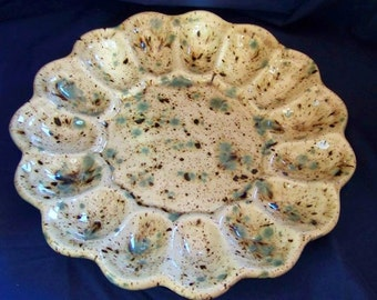 Ceramic Deviled Egg Tray,  Deviled Egg Plate