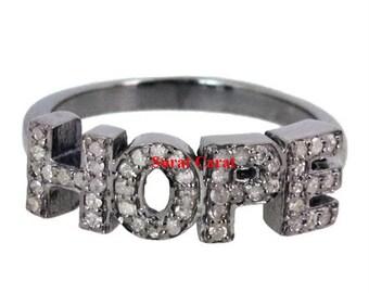 Victorian HOPE 1.80ct Rose Cut Diamond Ring, Free Shipping worldwide
