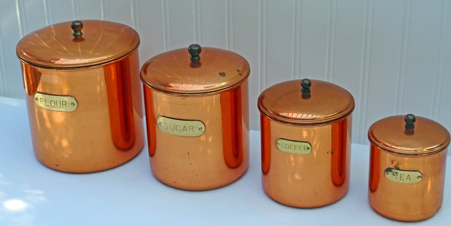 Vintage Nesting Copper Canister Set Douro Copperware Set