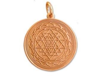 Shri Yantra Copper Pendant