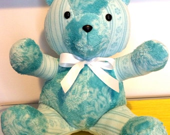 Handmade Memory Teddy Bear - Made to Order (Multiple Fabrics with Personalization)