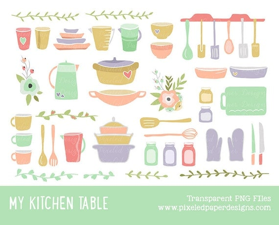 Digital Clip Art - Kitchen