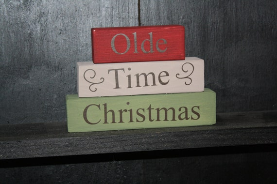 Olde Time Christmas Block Saying