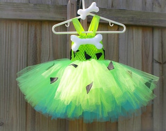 Pebbles tutu dress/ Flintstone tutu/ pebbles costume/ pebbles tutu/ Halloween costume/ Halloween tutu/ tutu costume