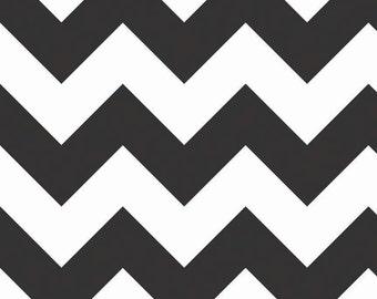 Black and White Large Chevron
