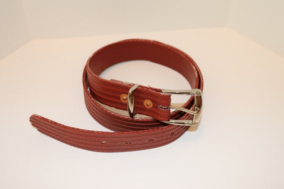 Items Similar To Fire Hose Belt, Recycled Fire Hose, Red