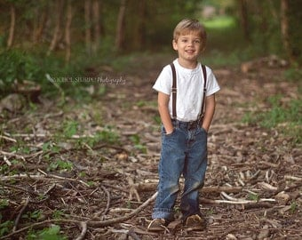 Child Suspenders - Baby, Toddler, and Ring Bearer - 3/4 inch wide - Adjustable - Photography Prop