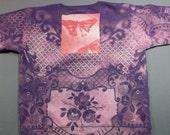 Powered By Creativity Purple Pink Sweatshirt w Butterfly & Lace M