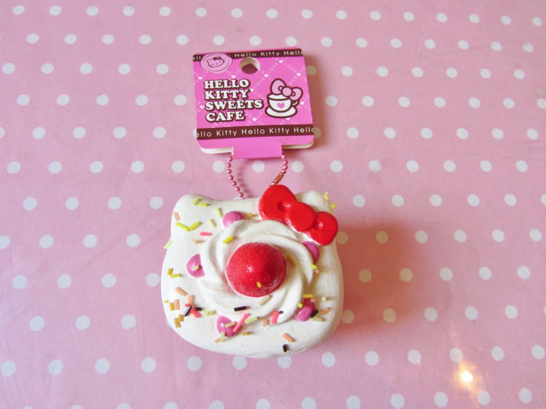 Hello Kitty Squishy Cake And Stand : Hello Kitty Short Cake Rare Squishy by ErikaDolciTentazioni
