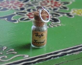Safe Travel Magic Spell Bottle Pendant