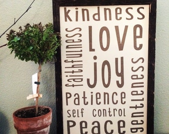 Fruit of the Spirit sign (13 inches by 19 inches)