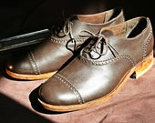SALE Handmade leather oxford shoes