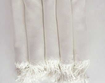 Pashmina Shawl Ivory or White - Bridesmaid Gift, Wedding Favor, Bridal party gift - Monogrammable