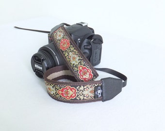 Custom DSLR Camera Strap, Flower