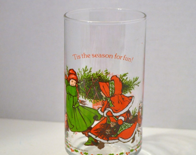 Vintage Holly Hobby Coca Cola Collector Series 1981 Christmas Glass Tumbler American Greetings  PanchosPorch