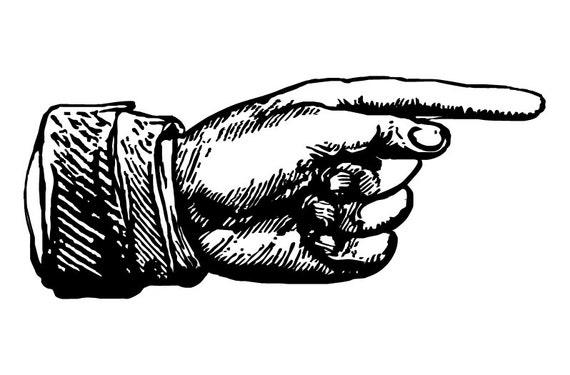 Vintage Victorian / Steampunk Pointer Finger Vectors Clip