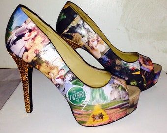 Custom made Wizard of Oz shoes