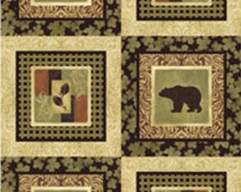 Northern Exposure - Wildlife Panel in Bark - Cotton Quilt Fabric - Benartex Fabrics (W1594)