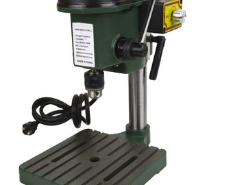 6mm Mini Drill Press Compact Bench Top Drill Jeweler Hobby 3-Speed Max 8500 RPM Jewelry Making