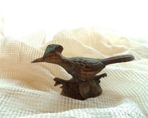 Collectible Souvenir ROADRUNNER Bird- Copper Finish Metal- 1950's Travel Memorabilia- United States Travel Souvenir