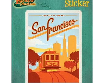 San Francisco California Trolley Car Vinyl Sticker #47898
