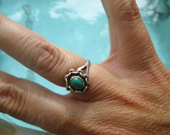 Turquoise and Sterling Ring Size 4.75