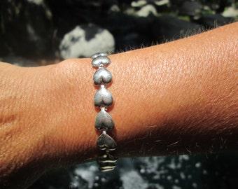 Hearts Sterling Silver Bracelet