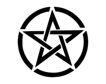 "6"" tall Pentagram Car / Window / VINYL DECAL STICKER - Any Color - Pagan - Wicca"