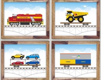 Four Train Prints Diesel 8 x 10 Art for Boys Room