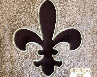 Fleur de Lis New Orleans Saints Digital Applique Design Instant Download