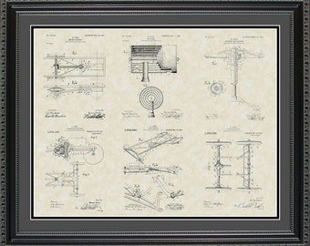 Henry Ford's Model-T Patent Collection Print Gift PFORD2024