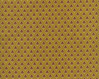 RJR Fabrics Audrey Wright Briarcliff 1668 01 Geometric Floral Gold by the Yard