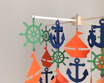 Anchor and Sail Boat Mobile/ Nautical mobile