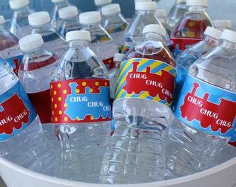 Train Water Bottle Wrappers
