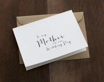To my mother on our wedding day