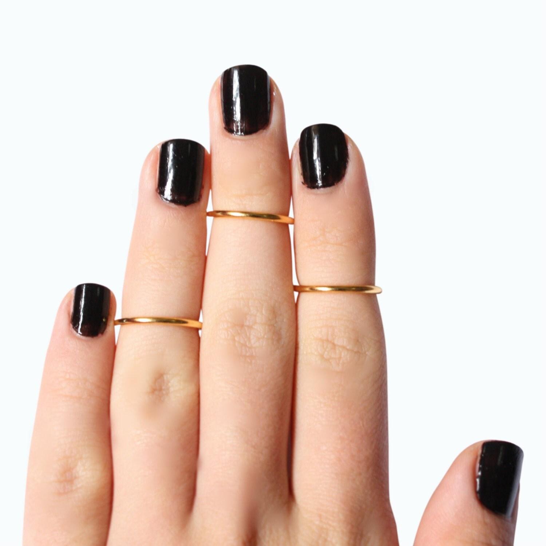 K Gold Toe Rings