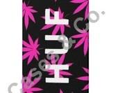 Huf Plantlife iPhone 4/4s & 5 Case Black/Pink