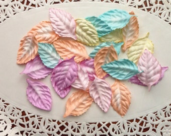 50 Mulberry leaves Pastel colors